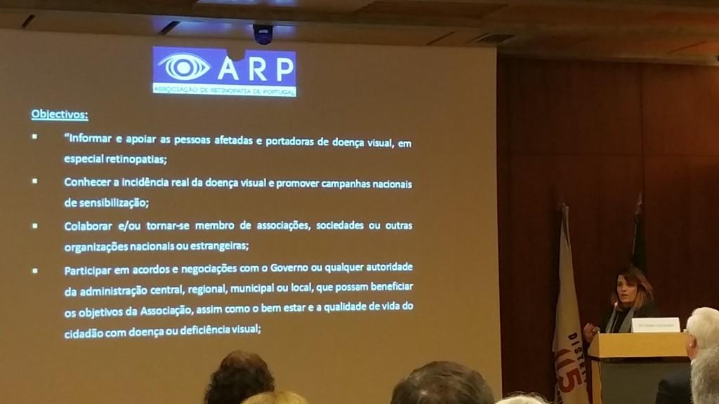 A ortoptista Nádia Fernandes represtou a ARP no Fórum Visão em Portugal
