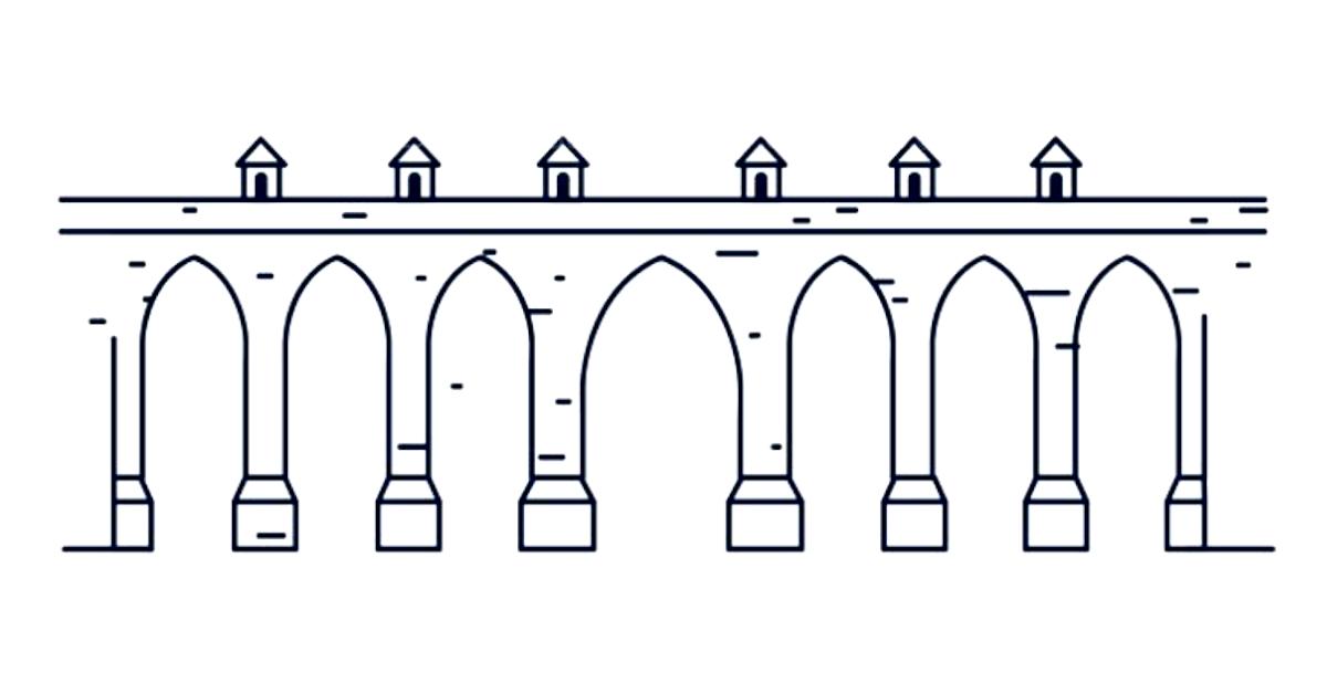 Imagem estilizada do Aqueduto das Águas Livres